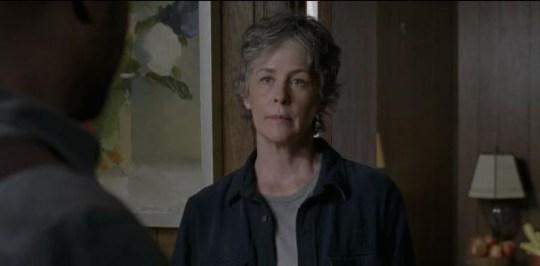 Carol returns in the Walking Dead mid-season finale (Picture: AMC/Fox)