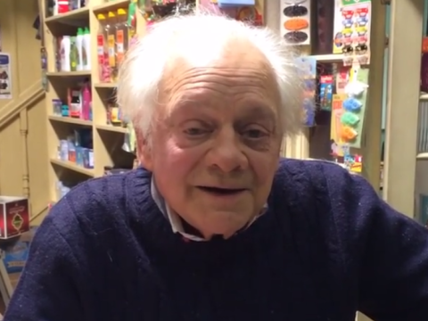 Sir David Jason sends inspiring video message to two delighted EastEnders stars