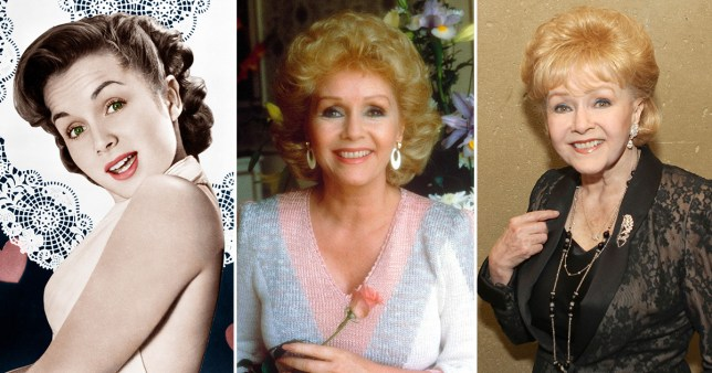 Debbie Reynolds in 1953, 1985 and 2013 Picture: Rex Shutterstock
