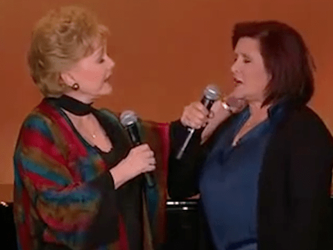 Watch rare video of Debbie Reynolds and Carrie Fisher singing together after revealing Oprah Winfrey interview