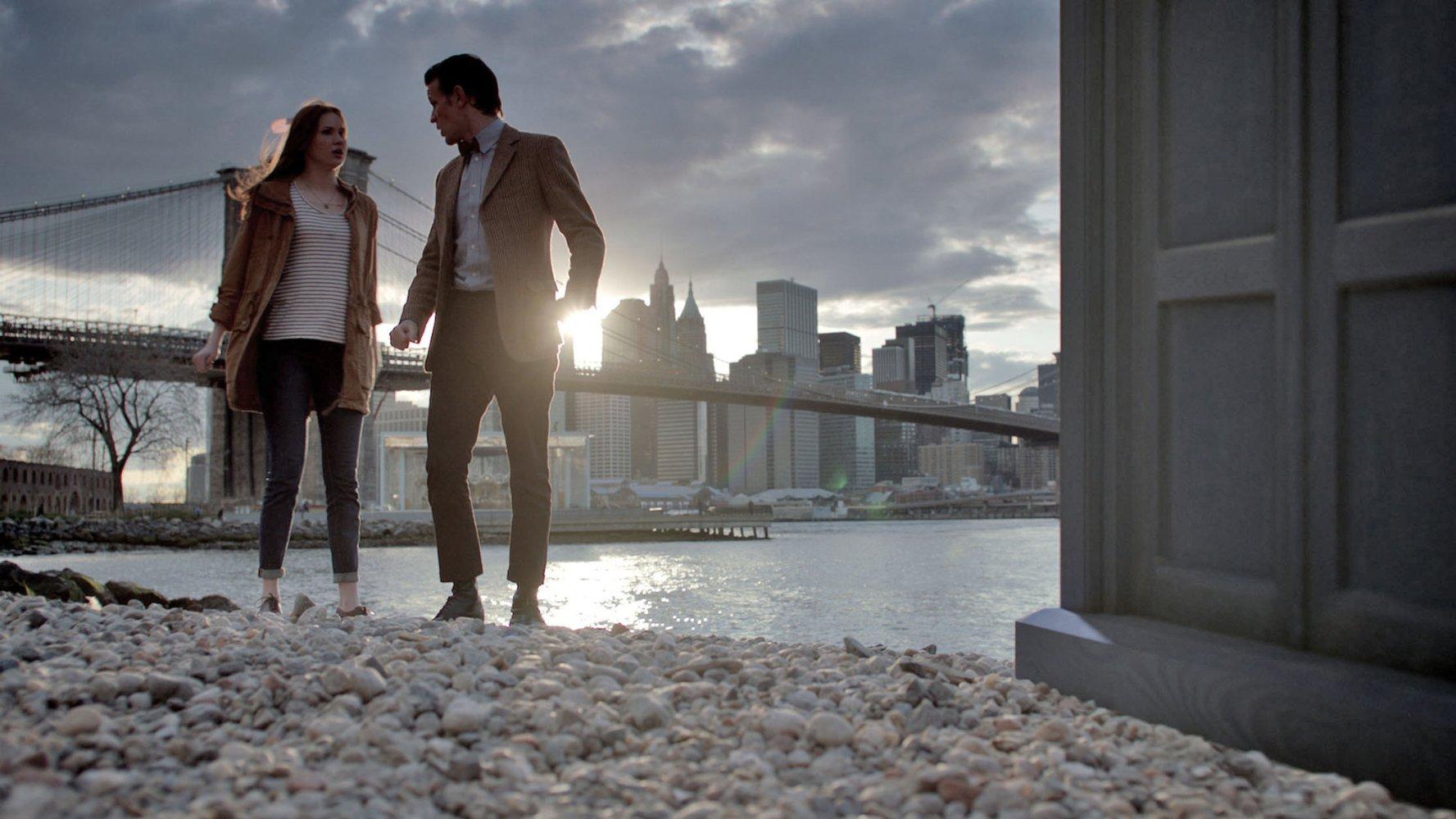 Matt Smith and Karen Gillen in The Angels Take Manhattan (Picture: BBC)