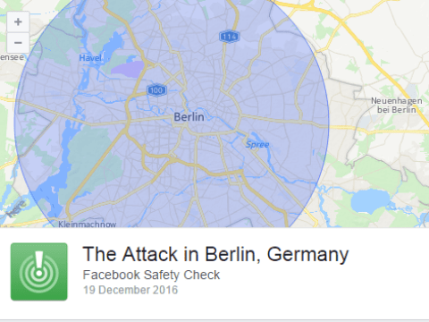 Facebook activates safety check as truck ploughs into Berlin Christmas market