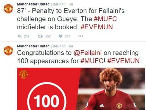 Marouane Fellaini takes three minutes to absolutely ruin Manchester United's day against Everton