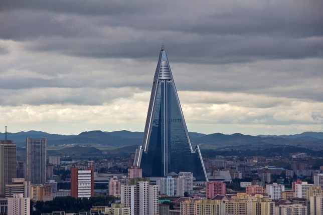 The Ryugyong Hotel in Pyongyang, North Korea. (Picture: Getty)