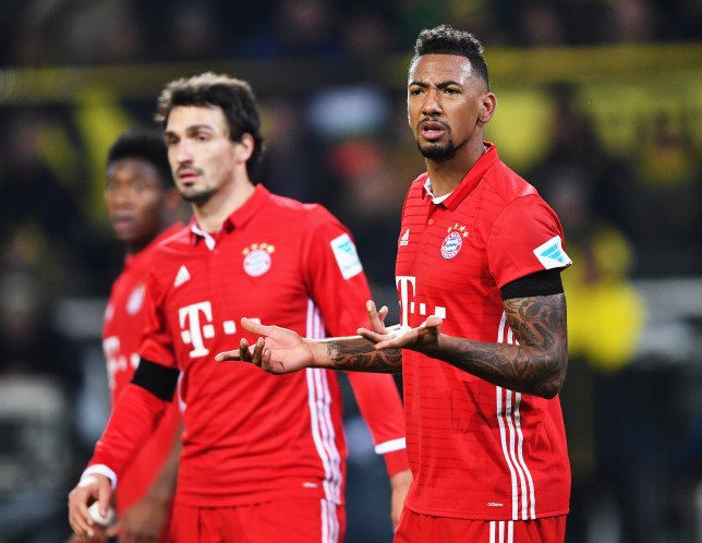 DORTMUND, GERMANY - NOVEMBER 19: Jérôme Boateng of Muenchen gestures during the Bundesliga match between Borussia Dortmund and Bayern Muenchen at Signal Iduna Park on November 19, 2016 in Dortmund, Germany. (Photo by Stuart Franklin/Bongarts/Getty Images)