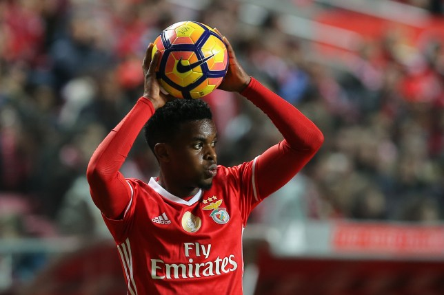 Benficas defender Nelson Semedo from Portugal  during the Portuguese Cup 2016/17 match between SL Benfica v FC Pacos Ferreira, at Luz Stadium in Lisbon on December 29, 2016. (Photo by Bruno Barros / DPI / NurPhoto via Getty Images)