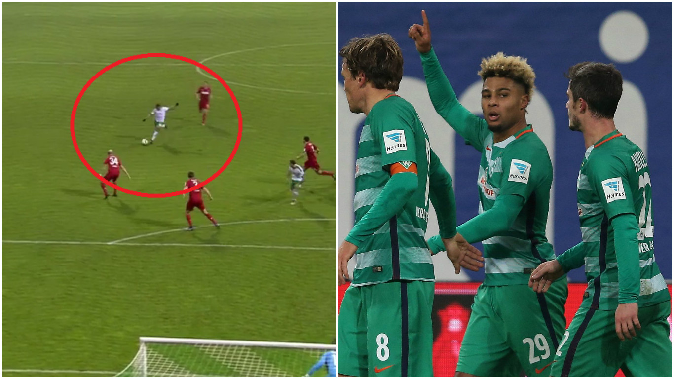Arsenal outcast Serge Gnabry scores stunning goal for Werder Bremen