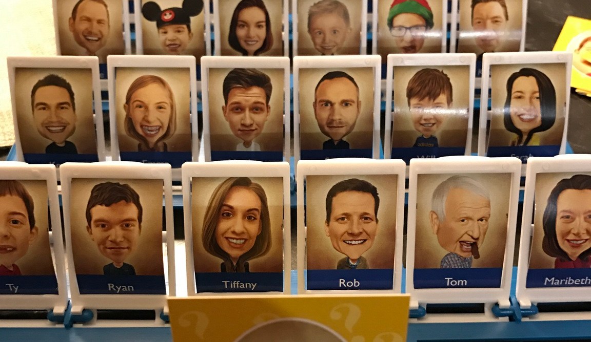 Someone made a custom Guess Who featuring their family members
