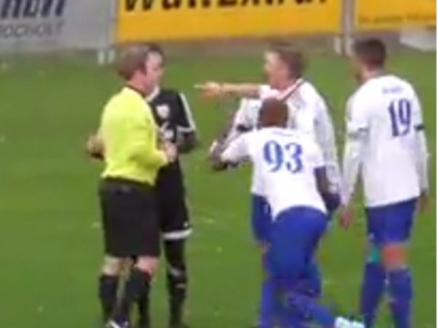 Video: Referee reverses penalty decision after player informs him he was not fouled
