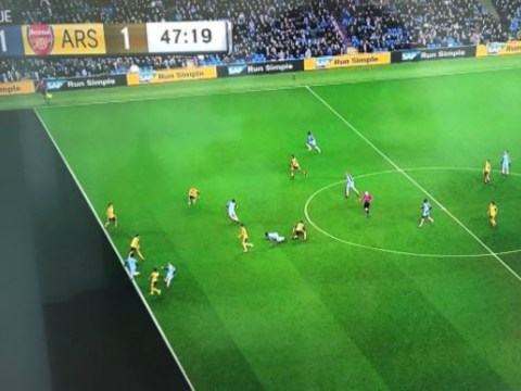 Does this picture prove Leroy Sane was offside for Manchester City equaliser v Arsenal?