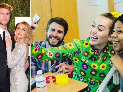 Liam Hemsworth and Miley Cyrus make surprise visit to children's hospital