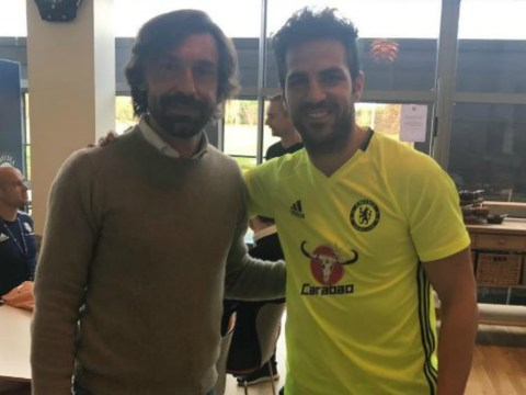 Chelsea star Cesc Fabregas spending time with Andrea Pirlo ahead of West Brom clash