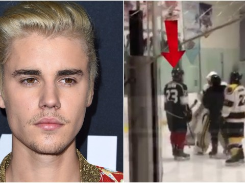 WATCH: Justin Bieber 'throws major ice hockey strop after beefing with player who whacked his stick'