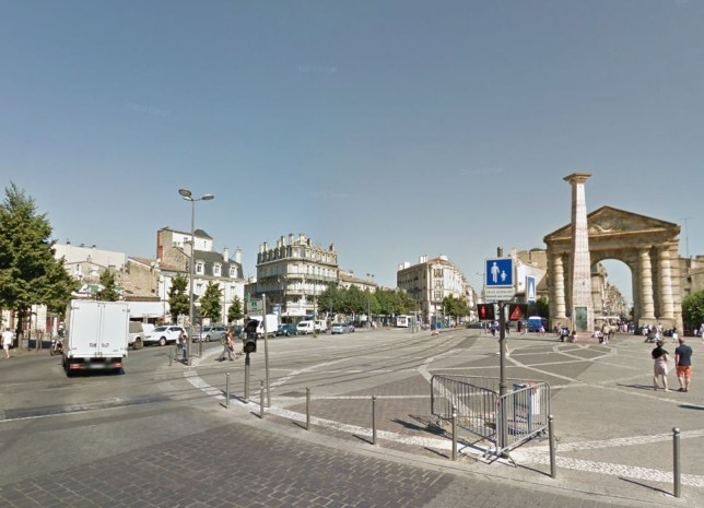 The woman was groped in Place de la Victoire (Picture: Google Street View)