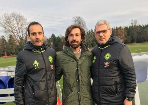 What's Andrea Pirlo doing at Chelsea's training ground? Antonio Conte explains all