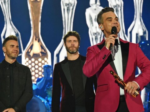 Take That fans call for permanent return after Robbie reunites with band during BRITS special
