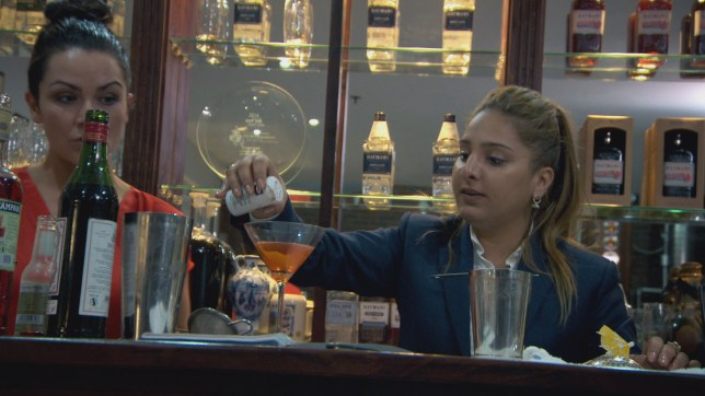 Jessica and Trishna have a drink or three (Picture: BBC)