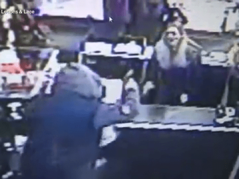 Sex shop workers fight off armed robber with dildos