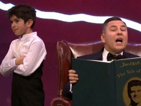 David Walliams mocks Britain Got Talent stars on Royal Variety Performance with kid Simon Cowell lookalike