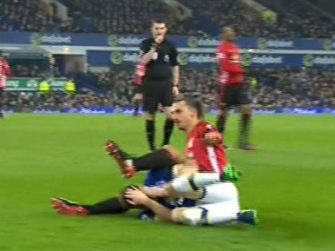 Zlatan Ibrahimovic may face retrospective action after striking Seamus Coleman in the face with his heel during Everton v Manchester United
