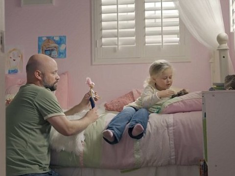 Barbie's new advert was shown during the NFL playoffs to celebrate dads who play with their daughters