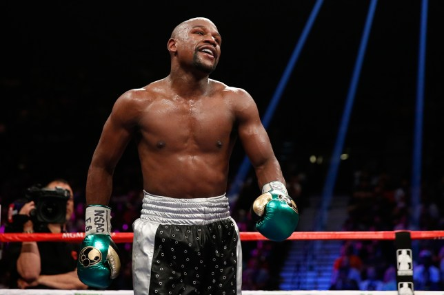 LAS VEGAS, NV - SEPTEMBER 12: Floyd Mayweather Jr. walks in the ring during his WBC/WBA welterweight title fight against Andre Berto at MGM Grand Garden Arena on September 12, 2015 in Las Vegas, Nevada. (Photo by Ezra Shaw/Getty Images)