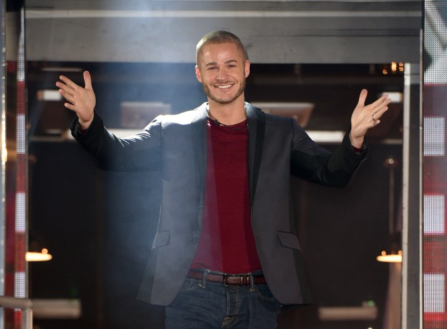 Austin Armacost is evicted from the Celebrity Big Brother House at Elstree Studios