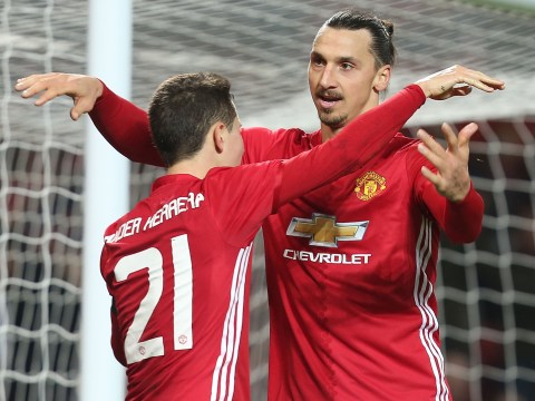 Ander Herrera says Manchester United striker Zlatan Ibrahimovic trains like he is still a kid