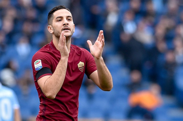 Konstantinos Manolas of Roma during the Serie A match between Lazio v Roma on December 4, 2016 in Rome, Italy. (Photo by Giuseppe Maffia/NurPhoto via Getty Images)