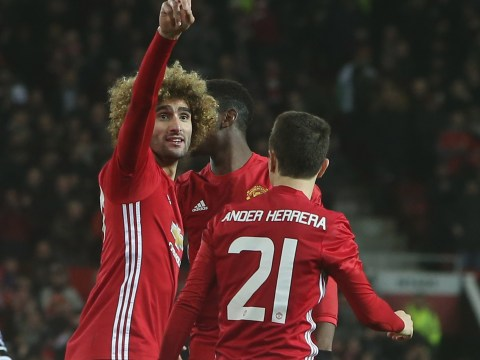 Manchester United confirm they have extended Marouane Fellaini's contract until 2018
