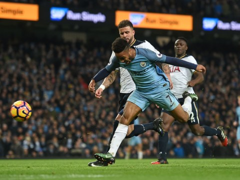 Manchester City midfielder Yaya Toure urges Raheem Sterling to take a tumble next time in the box