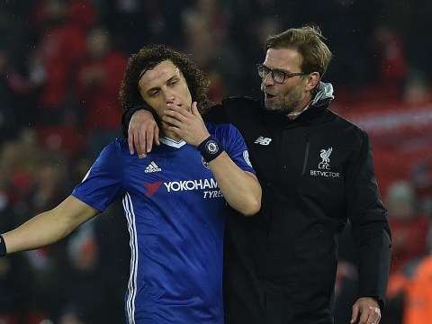 Liverpool boss Jurgen Klopp heaps praise on 'world-class' Chelsea defender David Luiz