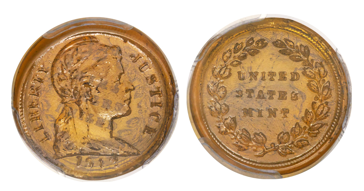 Pic: HeritageAuctions/BNPS A one-of-a-kind glass penny created during the Second World War to combat a shortage of copper has sold for a whopping £57,000. The experimental coin was manufactured in 1942 when the US Mint tried out other materials, such as plastic and rubber, so copper could be used for ammunition. But the coins, made from tempered glass, failed because the impressions weren't precise, the weight and size wasn't uniform and the coins had sharp edges which cut people's fingers. It is believed most were destroyed and this one is the only known surviving intact glass penny. One other exists but is broken in half.