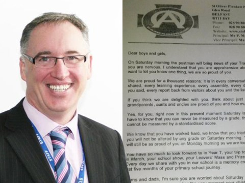 Headteacher gives children a lesson in what really matters ahead of results day
