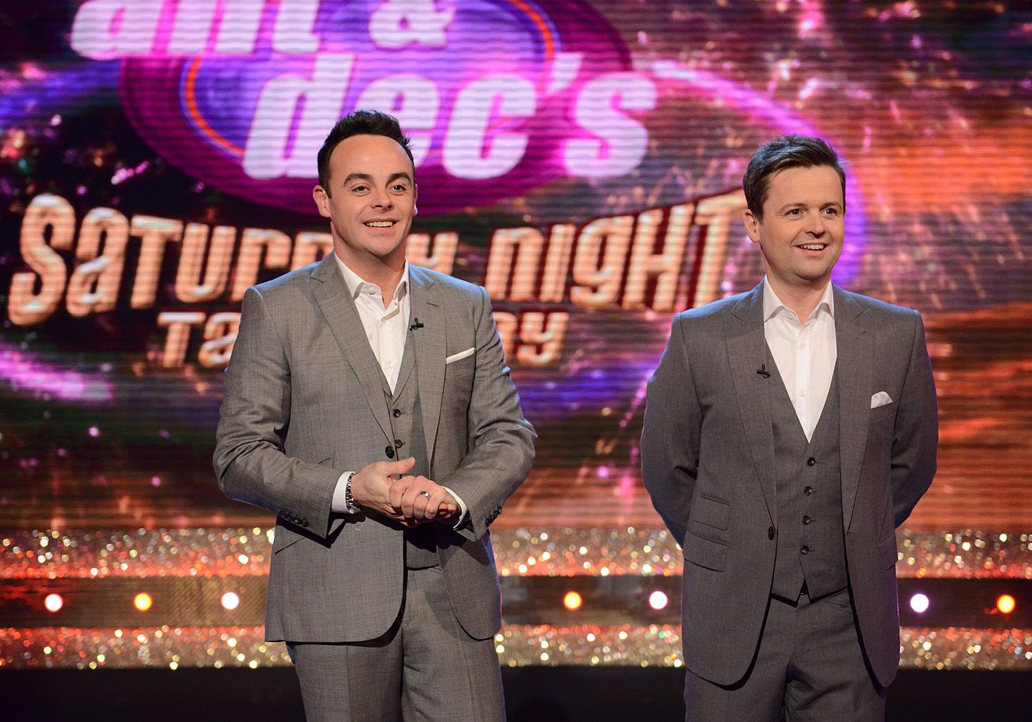Television Programme: Ant & Dec's Saturday Night Takeaway with Anthony McPartlin and Declan Donnelly. ANT & DECS SATURDAY NIGHT TAKEAWAY ON SATURDAY 29TH MARCH 2014 Ant & Dec s Saturday Night Takeaway. Picture Shows: Ant & Dec Award winning hosts Ant & Dec are back with their hugely popular entertainment series Ant & Dec s Saturday Night Takeaway.