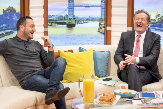 EDITORIAL USE ONLY. NO MERCHANDISING Mandatory Credit: Photo by Ken McKay/ITV/REX/Shutterstock (7727725s) Will Mellor and Piers Morgan 'Good Morning Britain' TV show, London, UK - 04 Jan 2017 Actor Actor, In The Club and No Offence. Will be here to talk about why he really wants to play a film action hero, Line of Duty, Two Pints of Lager and a Packet of Crisps, father, known for roles in award winning series such as Broadchurch, reprising his role as DC Spike Tanner in the new series of No Offence and whether there are any plans to work with his old friend and colleague Sheridan Smith.., singer and dancer Will Mellor Actor known for roles in award winning series such as 'In The Club', 'Line of Duty', 'Two Pints of Lager and a Packet of Crisps', 'Broadchurch' and No Offence. Will be here to talk about why he really wants to play a film action hero , reprising his role as DC Spike Tanner in the new series of 'No Offence' and whether there are any plans to work with his old friend and colleague Sheridan Smith.