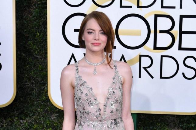Mandatory Credit: Photo by REX/Shutterstock (7734773gr) Emma Stone 74th Annual Golden Globe Awards, Arrivals, Los Angeles, USA - 08 Jan 2017