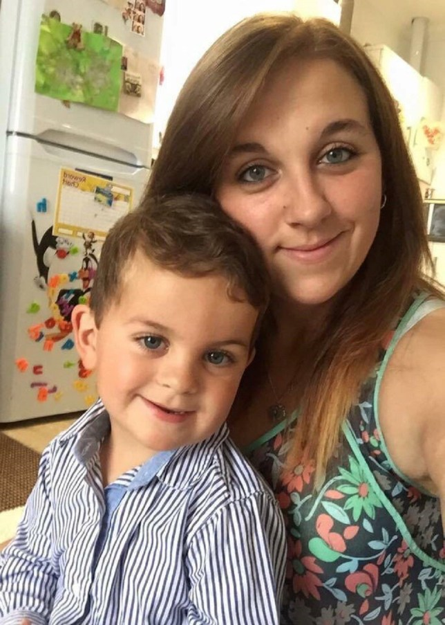 Sophie Renouf with her son Finley who was attacked by a squirrel. (file pic) See SWNS story SWFAT; Britain's fattest squirrels living at a country park are getting so greedy they have literally gone nuts and have started to attack - CHILDREN. The obese rodents have swelled due to a mild winter that has seen them feasting on an abundance of snacks and food left on the frost-free ground. And the chubby critters at Tehidy Country Park in Cornwall are now turning their insatiable appetite towards toddlers. Visitors says the squirrels are nipping and attacking people in a bid to get hold of food they might be carrying.