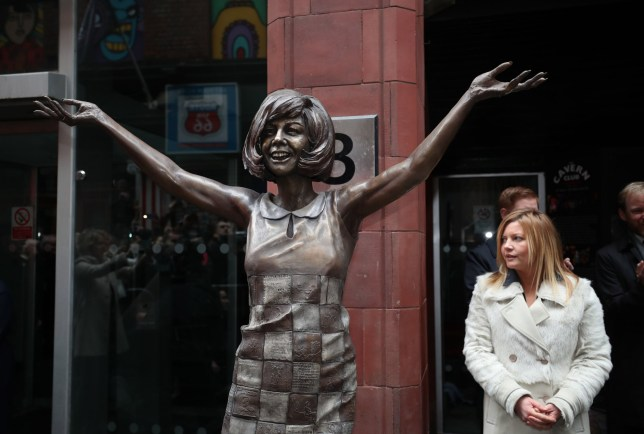 The statue of the singer Cilla Black at its unveiling outside the Cavern Club in Liverpool. PRESS ASSOCIATION Photo. Picture date: Monday January 16, 2017. Black, 72, who died after a fall at her Spanish villa in 2015 worked as a cloakroom girl at the music venue on her way to stardom. Photo credit should read: Peter Byrne/PA Wire