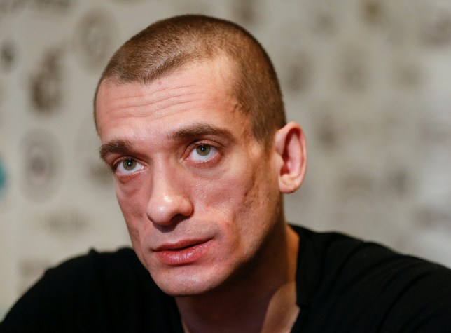Russian artist Pyotr Pavlensky speaks during an interview with Reuters in Kiev, Ukraine, January 4, 2017. Picture taken January 4, 2017. REUTERS/Valentyn Ogirenko