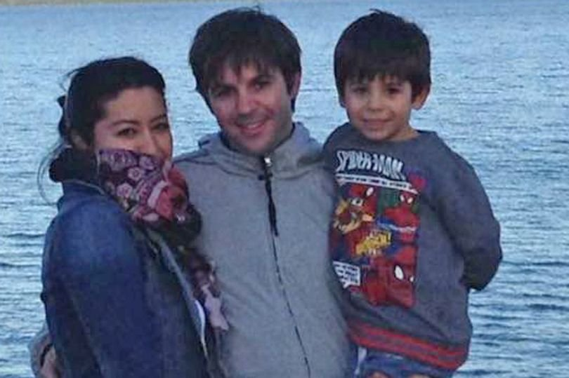 First picture: The victims have been named locally as Tiago and Adriana Nunes, who are in their thirties, and their son, also called Tiago, seven. Reigate fire