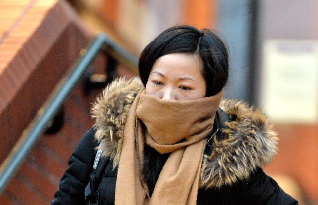 Chuanfang Zheng at Leicester Crown Court. A jury has found a 31-year-old mother-of-three guilty of killing her baby niece by shaking her. The panel of 11 reached the unanimous guilty verdict today, January 27, 2017. See NTI story NTISHAKE. Chuanfang Zheng, 31, had denied the manslaughter of seven-month-old Phoebe Guo, who died from catastrophic brain injuries, in March 2015. But Leicester Crown Court heard that Zheng, who was also caring for her own three children ñ aged five, three and eight months ñ lost control while babysitting Phoebe and vigorously shook her. Judge Nicholas Dean QC said a lengthy custodial sentence was inevitable and remanded the defendant into custody to await sentencing next month.