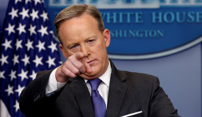 White House spokesman Sean Spicer takes questions