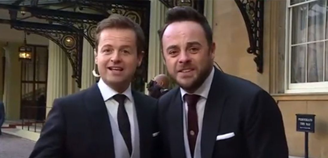 Ant and Dec changed places as they collected their OBEs – and even they got confused