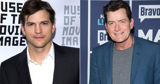 Ashton Kutcher and Charlie Sheen Credit Getty