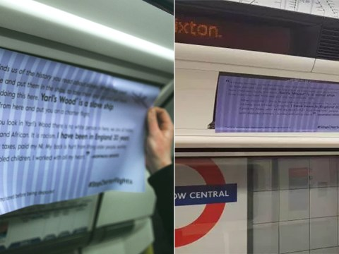 Tube ads hijacked to protest against 'racist' deportations
