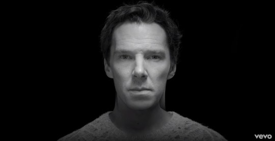 Sherlock star Benedict Cumberbatch appears in Elbow's film clip to Gentle Storm (Picture: YouTube)