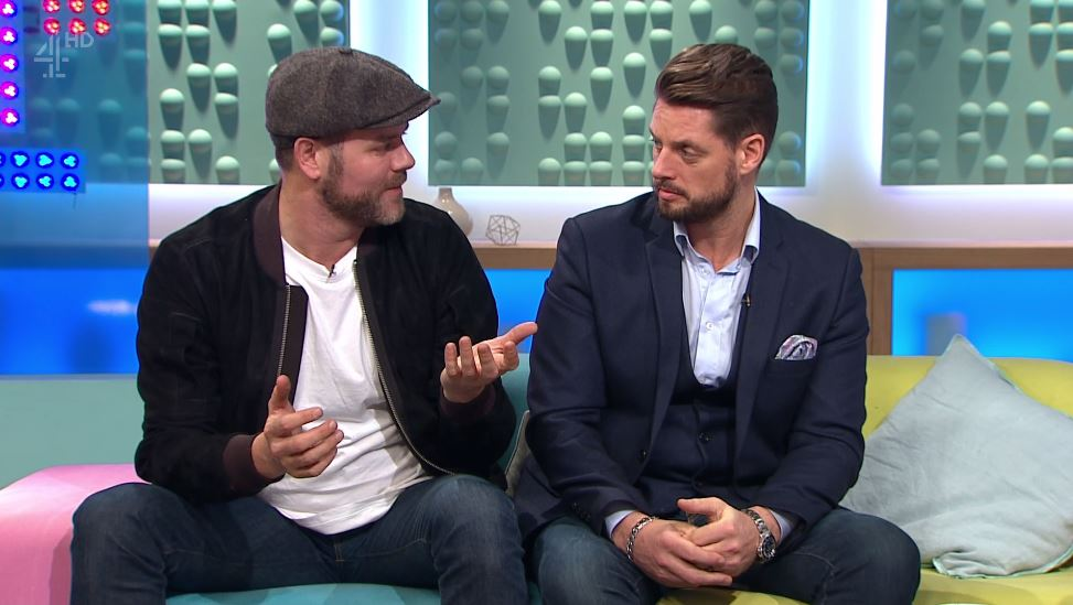 Brian McFadden and Keith Duffy on Sunday Brunch (Picture: Channel 4)
