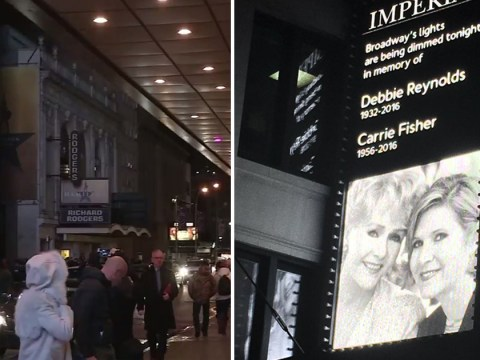 Broadway dimmed its lights in beautiful tribute to Carrie Fisher and Debbie Reynolds