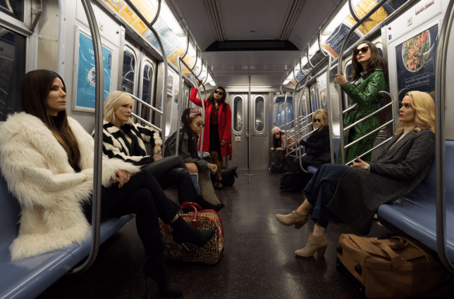 The cast of Ocean's 8 casually hanging out (Picture: Warner Bros)